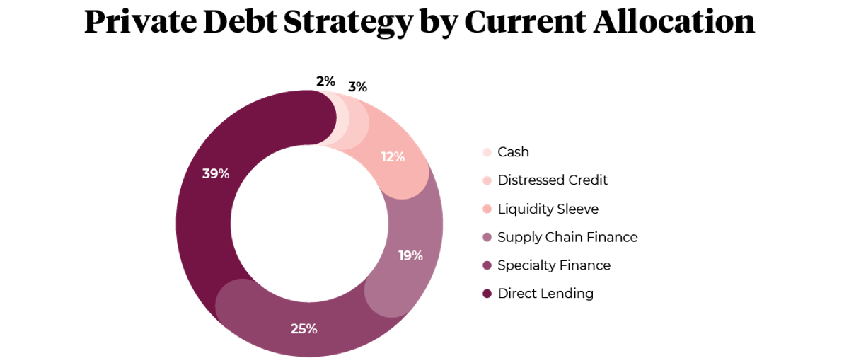 Private Debt Strategy by Current Allocation